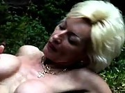 Granny fucking in the great outdoors