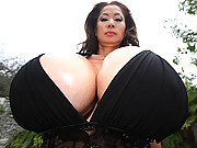Mature slut with enormous jugs in nasty sex scene