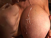 Gigantic boob slut does everything to his poor dick
