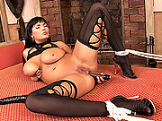 Hot slut Jasmine Black bound & fucked hard with vibrator