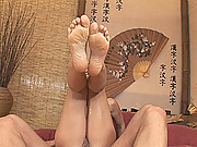 Sylvia Laurent - martial arts with fucking and footjob!