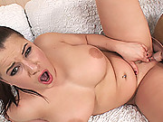 Busty horny Teri Sweet rides Sybian to trembling orgasm