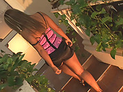 Lusty young Carmen showing & vibroing her sexy pussy & ass