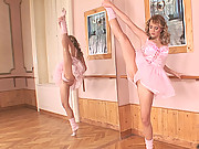 Blue Angel paused her ballet practice for wild masturbation