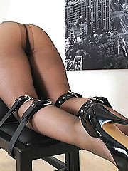 Restrained for spank