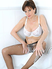 Pantyhose in bath