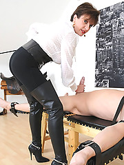 Boots and spurs milf