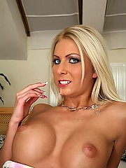Beautiful blonde euro babe gets her box nailed hard against the bed then her perfect tittys and face creamed in these hot ass long leg babe fuck adventure