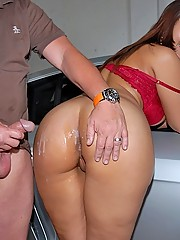 Banging hot ass big tits lexxxi is working on her cars in the garage when shes gets a tune up with a big tool in these hot box fucking pics