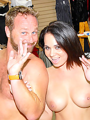 Amazing tight waist big titty brunette kelly gets her hot box pounded hard in the store and ass creamed in these hot banging pics