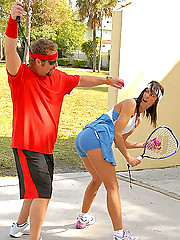 Hot tennis milf gets her box fucked hard after a game of tennis in these banging park fucking pics