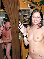 Hot sleek long leg mini skirt babe brook gets picked up at the beach cafe for a hot pussy ramming and cum faced action in these beach side fucking pics