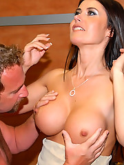 Hot stacked big tits babe gets her box fucked in the tanning salon after she shows a hordy cock how to tan in these hot vids