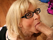 Nina is a nosy neighbor MILF has noticed that Chris hasn't moved his car for a few days.  She checks up on him and finds that he hurt his knee recently, and is depressed because he can't skydive.  She decides to cheer him up……with her ass!