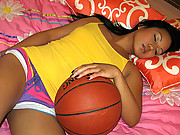 Teen Asian slut gets fucked after playing basketball!