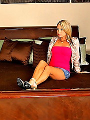 Super hot mini skirt blonde college babe kira gets her hot box pounded hard on the couch then pretty face creamed in the college fuck pics
