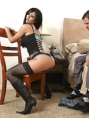 Shy Love gets her ass fucked hard by a huge cock
