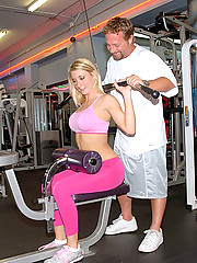 Watch hot ass amateur milf take a cock up her ass on the bench in these hot gym fucking cumfaced pics and movie
