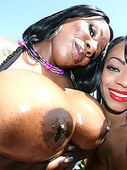 Big booty black girls have nasty threesome