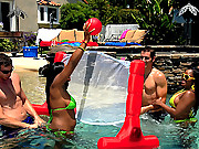2 hot black booty babe rented out a park for the day for this hot group sex cumfaced wet pool fucking adventure