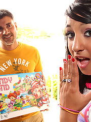 Hawaiin Nice tits Piper gets fucked after Candy Land game