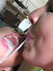 Dirty slut Rachel becomes the center of a cum party