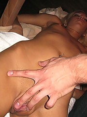 Teen blonde gets fucked after working out!