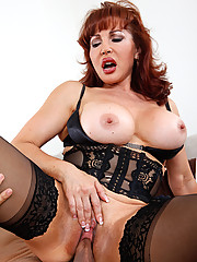 Sexy Vanessa is glad to know her son