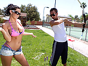 Archery slut gets pounded hard and deep