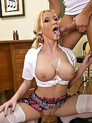 Madison Scott stretching her vocal cords with a big hard cock