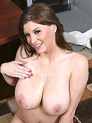 Sara Stone gets her horny boss to play with her big tits