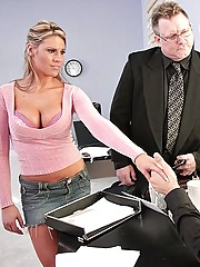 Charisma Capelli fucking her dads employees at work