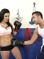 Aletta Ocean wants to be a boxer and uses her tits to get what she wants