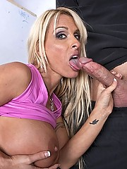 This trio of babes takes turns getting fucked by there coaches huge cock
