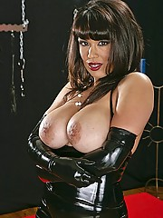 Sienna Dominatrix West getting her leather suit fucking gear on