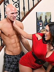 Veronica Rayne stalks her big cock and gets it