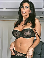Shay gets into the mile high club by taking the captains big cock deep in her tight pussy