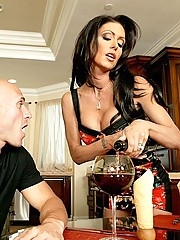 Jessica Jaymes getting fucked hard by her husbands brother big dick