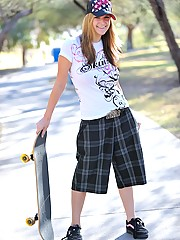 Danielle wears some skater gear