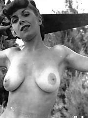 Several busty girls from the sixties showing their goods