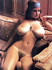 Teenage seventies chick showing her big natural boobies