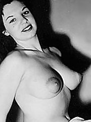 Several big breasted ladies from the fifties showing it all
