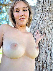 Sadie gets naked in the park