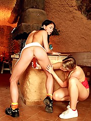 Two dirty lesbians enjoying each others wet tight pussy