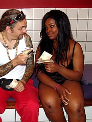 Black chubby hooker fucking a Mexican tourist for some money