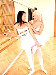 Lesbian ballet girls toying each others wet and tight pussy