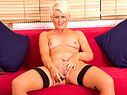 Sally Taylor makes her milf pussy orgasm with a toy