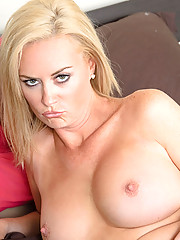 Sexy milf fucks herself using her rabbit on the couch until she has multiple orgasms