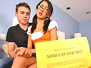 Amias boyfriend has not paid the rent so the landlord gives them one option have her fuck him