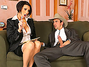 Dylan ryder went to see mr.sneaky as he wipt out his cock she was all over it